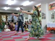 緋田さん親子で踊ってもらいました(すごい迫力!!)